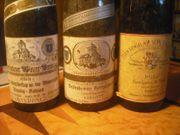 6 Flaschen Weißwein 1971 bis