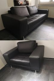 Nagelneue Kunstleder Sofa Lounge Sessel