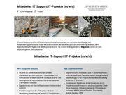 Mitarbeiter IT-Support IT-Projekte m w