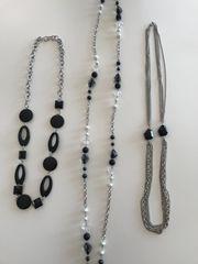 3 Halsketten Modeschmuck