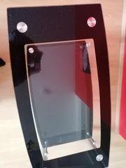 Couchtisch Glasplatte schwarz mit Glitzer