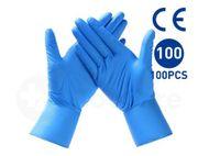 100er Pack CE-zertifizierte blaue Nitrilhandschuhe