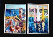 2 tolle alte Gemälde Ölgemälde
