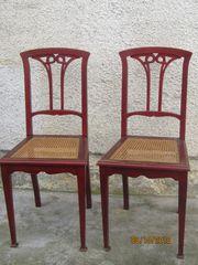 3 klassische Jugendstil-Stühle