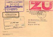 DDR - Dienstpost ZKD mit Zustellungsurkunde