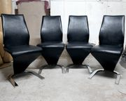 Stuhl Schwingstuhl Xora Leder Küchenstuhl