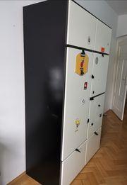 Ikea Schrank ODDA schwarz weiß