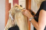 Haarverlängerung einsetzen Nanoring Microring Bonding