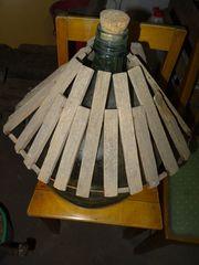 Korbflasche 30l mit Holzgitterschutz