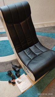 Gamer Stuhl schwarz weiss mit
