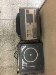 dual Plattenspieler Radio Kassette Schallplatten