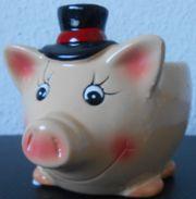 Übertopf für Planzen in Glücksschweinform