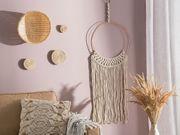 Wanddekoration cremeweiß Strickmuster ALUVA neu -