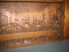 Bild 4 - Abendmahl handgeschnitzt 75cm x 42 - Gingen