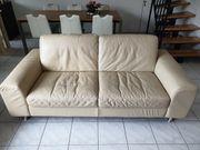 Sofa Ledersofa Couch und Ledersessel