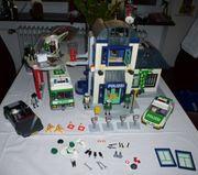 Playmobil Polizeistation diverse Fahrzeuge - gebraucht