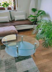 Couch Tisch aus Glas zu