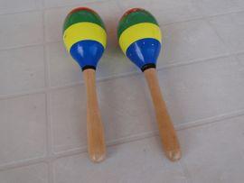 Holzspielzeug - Maracas Holzrassel