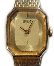 Citizen Quartz Damen Armbanduhr goldfarben
