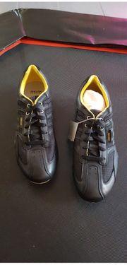 Geox Ledersneaker Scharz Gelb Größe