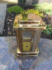 Kleine Grablampe goldfarben Grablaterne Grablicht