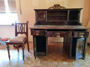 Antiker Schreibtisch Stuhl