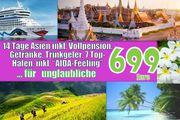 2 Wochen AIDA Kreuzfahrt Asien