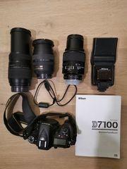 NIKON D7100 3 Objektive TTL