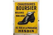 Altes Reklame Plakat Schuhe Original