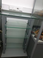 Hifi Rack aus Glas Alu