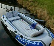 Schlauchboot mit Außenborder Aussenborder 1PS