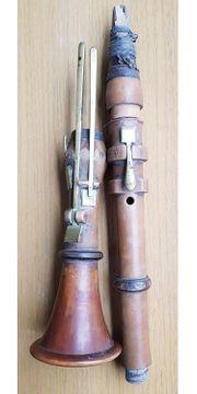 Antike Klarinetten 1900 Jahrhundert Holz
