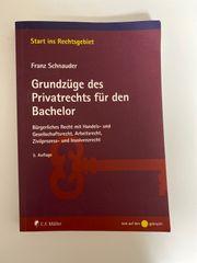 Grundzüge des Privatrechts für den