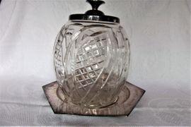 Glas, Porzellan antiquarisch - Kristallbowle