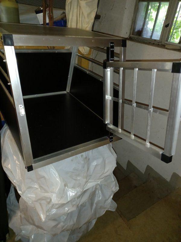 Eugad Aluminium Hundebox 69x54x50 wie Neu