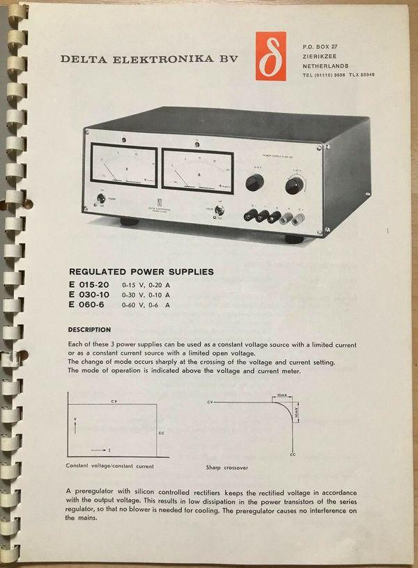 E 015-20 Regulated POWER SUPPLY