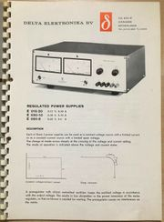 E 015-20 Regulated POWER SUPPLY