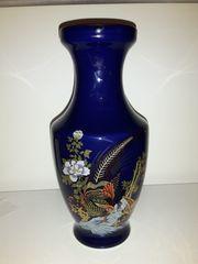 Vase kobaltblau 26 cm hoch