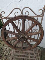 Antik 2 alte Wagenräder Holz