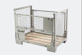 Gitterbox, Stapelgestell, Faltbare Gitterbehälter, Holzaufsatzrahmen, Gitteraufsatzrahmen