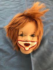 Reproduktionkopf Lachender Jumeau als Clown
