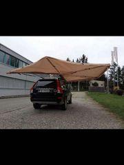 Freitragende Seiten Store Zelt Auto