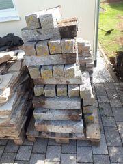 Pallisadensteine 45 Stück in grau