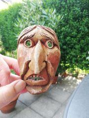 Kleine Holzmaske DEKO Künstler J