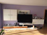 Wunderschöne Designer TV Wohnwand Weiß