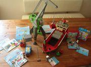 Playmobil - Hafen - Schiff Kran und