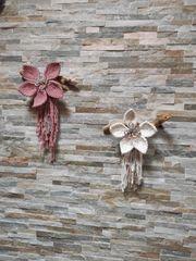 Makramee Wandbehang Deko Blume groß