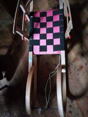 Schöner Holz Schlitten für Kinder