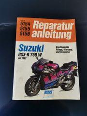 Reparaturanleitung Wartungshandbuch Suzuki GSX-R 750