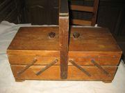 Nähkasten aus Holz Holznähkasten Schmuckkasten